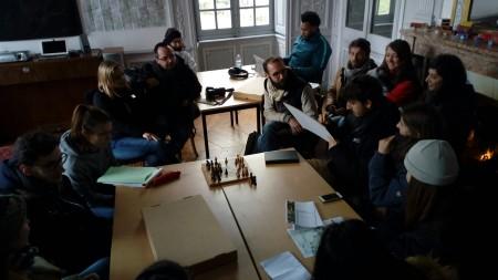 Château de Lusigny workshop étudiants ENSAL avril 2019 travail en groupes