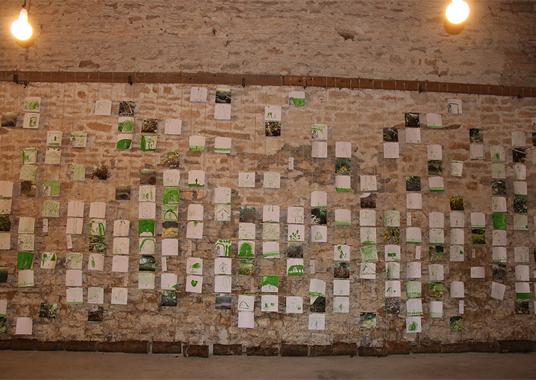 2018 projet les cabanes Géraldine Trubert expo grange