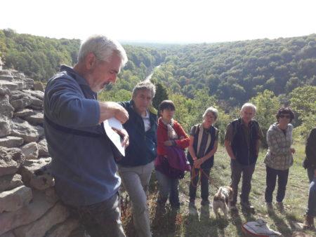 L'Arrière-pays Lusigny un paysage habité balade CAUE 21 13 octobre 2019 Hervé Bouart à la cabotte