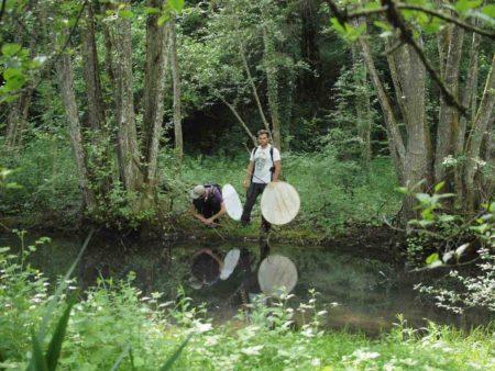 Rémi Saurat et Benoît Dodelin dans le parc du château de Lusigny