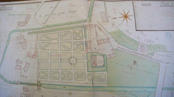 Château de Lusigny Plan de terrier de 1775
