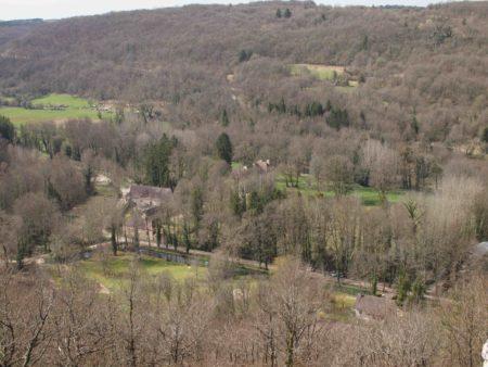 Le château de Lusigny vu de la Vierge Noire
