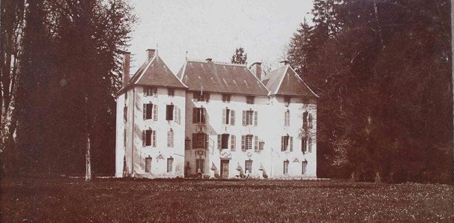 Le château de Lusigny vers 1910