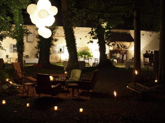 Ambiance nocturne Château de Lusigny